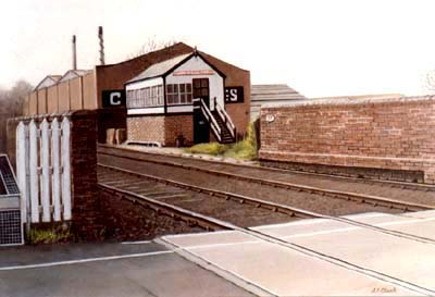 Pet Portraits and Landscape Paintings - Railway and signal box, Coundon, England