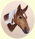 Click for larger image of horse painting