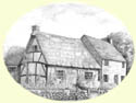 Click for larger image of English thatched cottage