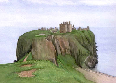 Painting Castles in Watercolour Castle Landscape Painting