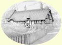 Click for larger image of Anne Hathaway's thatched cottage